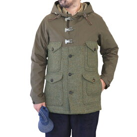 NIGEL CABOURN ナイジェル・ケーボン CAMERAMAN JACKET CLASSIC VENTILE × HARRIS TWEED GREEN AUTHENTIC LINE