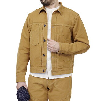 7f2cbfd69bfd FREEWHEELERS GOLD MINER WORK JACKET LATE 1800s STYLE WORK CLOTHING HEAVY Oz  COTTON DUCK YELLOW BROWN