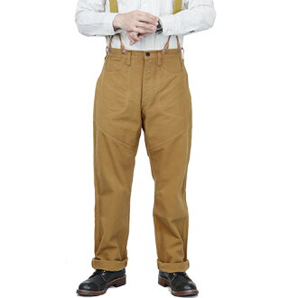 FREEWHEELERS furihoirazu GOLD MINER OVERALLS LATE 1800s STYLE WORK CLOTHING HEAVY Oz COTTON DUCK YELLOW BROWN