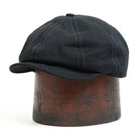 FREEWHEELERS フリーホイーラーズ DYLAN 8 PANELS CAP BLACK HERRINGBONE TWILL キャスケット