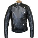 FREEWHEELERS CENTINELA LEATHER TOGS SIZE:36 - 42 LATE 1930-1940s MOTORCYCLE JACKET DOUBLE BREASTED TYPE HORSE HIDE RUDE BLACK