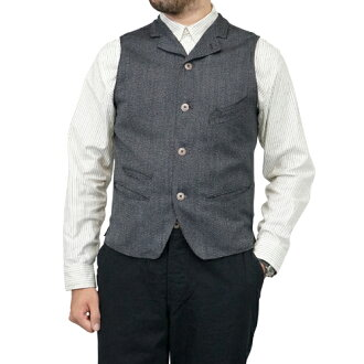 FREEWHEELERS ROCKEFELLER LATE 1800s TAILORED VEST GRAINED WOOL OXFORD GRAINED GRAY