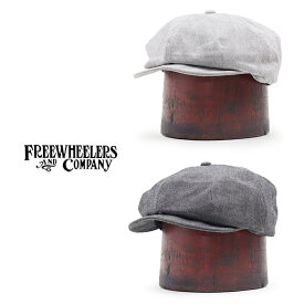 FREEWHEELERS フリーホイーラーズ CASSADY 4 PANELS CAP 1910 - 1920s STYLE CASQUETTE YARN-DYED HERRINGBONE WIDE STRIPE TWILL 2 COLORS