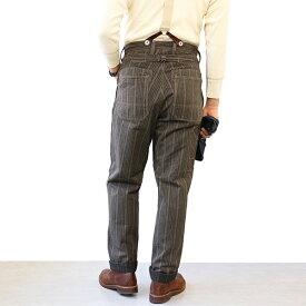 FREEWHEELERS フリーホイーラーズ (SIZE:W30-W38) GANDY DANCER OVERALLS LATE 1890s 〜 STYLE WORK CLOTHING GRAINED STRIPE TWILL GRAINED DARK BROWN STRIPE