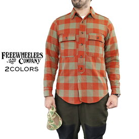 FREEWHEELERS フリーホイーラーズ OFFY 1920 - 1930s STYLE WORK SHIRT ORIGINAL COTTON FLANNEL CHECK 2 COLORS