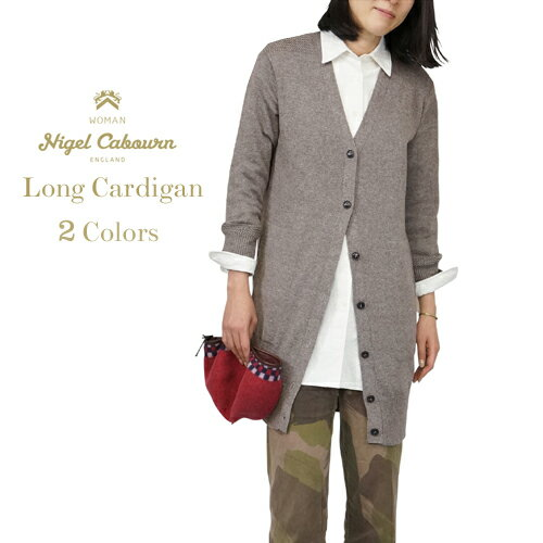 NIGEL CABOURN WOMAN ナイジェル・ケーボン ウーマン LONG CARDIGAN YAK WOOL COTTON 2 COLORS MAIN LINE