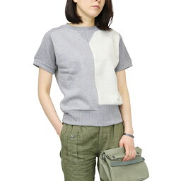 NIGEL CABOURN WOMAN奈杰爾·K波恩女ARMY CREW JERSEY MIX SHORT SLEEVE GRAY MAIN LINE
