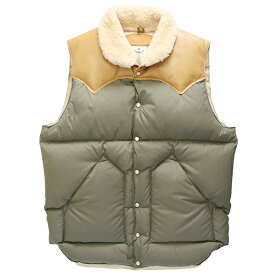 ROCKY MOUNTAIN FEATHERBED ロッキー マウンテン フェザーベッド HERITAGE COLLECTION CHRISTY VEST OLIVE × LIGHT BROWN MADE IN JAPAN