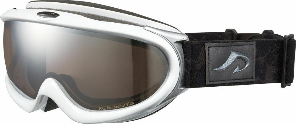 【ラッキーシール対象】AXE(アックス)スキーゴーグル・サングラス(メンズ) スノーゴーグル UVカットAX888WMDホワイト