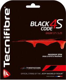 【ラッキーシール対象】BridgeStone(ブリヂストン)テニスガット・ラバーBLACK CODE 4S 1.25mm ブラックTFG517