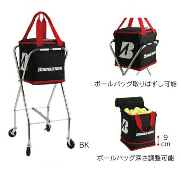 【ラッキーシール対象】BridgeStone(ブリヂストン)テニスバッグキャスター付ボールバッグTAB901ブラック