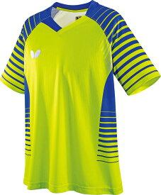 【ラッキーシール対象】バタフライ(Butterfly)卓球ゲームシャツ・パンツ卓球アパレル NEOLD SHIRT(ネオルド・シャツ) 男女兼用/ジュニア対応45450ライム