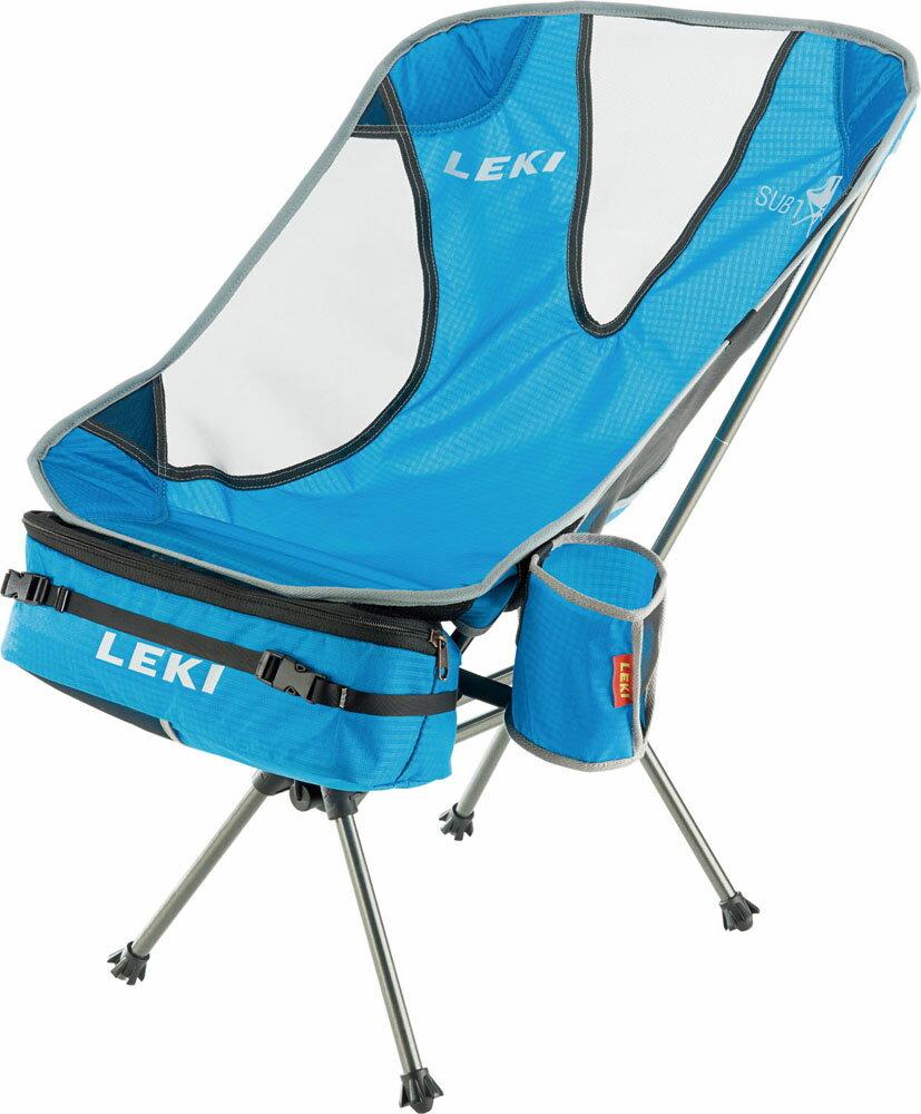 【ラッキーシール対象】LEKI(レキ)アウトドアスキーポールアウトドア キャンプ 折りたたみ式 椅子 サブ ワン ライトウエイト1300357660ブルー