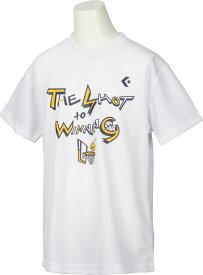 【ラッキーシール対象】CONVERSE(コンバース)バスケットTシャツプリントTシャツ ミニバス ジュニアCB482301ホワイト/ネイビー