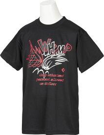 【ラッキーシール対象】CONVERSE(コンバース)バスケットTシャツプリントTシャツ ミニバス ジュニアCB482302ブラック/レッド