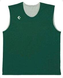 【ラッキーシール対象】CONVERSE(コンバース)バスケットレオタードリバーシブルノースリーブ CB24730CB24730グリーン×ホワイト