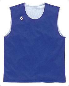 【ラッキーシール対象】CONVERSE(コンバース)バスケットレオタードリバーシブルノースリーブシャツCB24730ERブルー×ホワイト