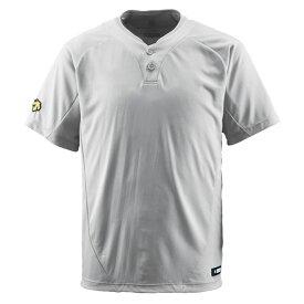 【ラッキーシール対象】デサント(DESCENTE)野球&ソフトTシャツ2ボタンTシャツDB201シルバー