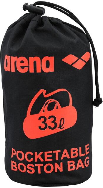 ARENA(アリーナ)水泳水球競技バッグポケッタブルデリバリーバッグAEANJA06ブラック