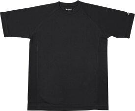 ファイテン(PHITEN)ボディケアRAKUシャツSPORTS(吸汗速乾)半袖ブラック LJF899105