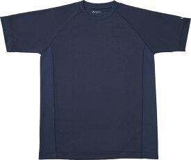 ファイテン(PHITEN)ボディケアRAKUシャツ SPORTS 吸汗速乾 半袖 ネイビー MJF899304