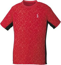 【ラッキーシール対象】GOSEN(ゴーセン)テニスゲームシャツ・パンツユニセックス ゲームシャツT1904レッド