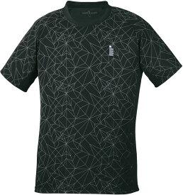 【ラッキーシール対象】GOSEN(ゴーセン)テニスゲームシャツ・パンツユニセックス ゲームシャツT1904ブラック