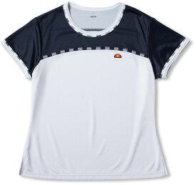 【ラッキーシール対象】Ellesse(エレッセ)テニスゲームシャツ・パンツS/SチームクルーETS0911LW*NY