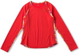 【ラッキーシール対象】Ellesse(エレッセ)テニスゲームシャツ・パンツL/SツアープラスクルーEW09102PレッドP
