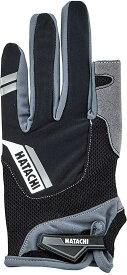 【ラッキーシール対象】HATACHI(ハタチ)ウエルネス手袋ダブルフィンガーカットグローブWH8130ブラック