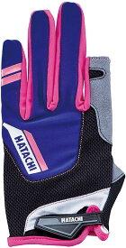 【ラッキーシール対象】HATACHI(ハタチ)ウエルネス手袋ダブルフィンガーカットグローブWH8130ネイビー
