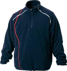 ZETT ゼット メンズ 野球・ソフトボール用ウェア  フリースジャケット 立衿 ハーフジップ 裏地付きBOF1302900