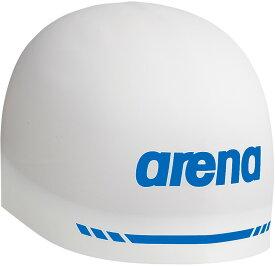 【大感謝セール28日〜29日限定P最大10倍】ARENA(アリーナ)水泳水球競技シリコンキャップ(AQUAFORCE 3D SOFT) ARN−9400ARN9400WHT