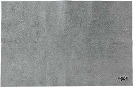 【19日20時から20日限定 P最大10倍】Speedo スピードスイミングマイクロセームタオル L 吸水 速乾 セームタオル セーム 抗菌仕様 水泳 スポーツ キャンプ 旅行 トラベル レジャーSE62002GY