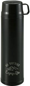 【15日限定P最大10倍】CAPTAIN STAG(キャプテンスタッグ)アウトドアモンテ 2WAYダブルステンレスボトル900(ブラック) ステンレスボトル ボトル マイボトル 水筒 キャンプ アウトドア 保温 保