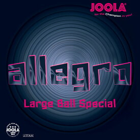 【1日限定P最大10倍】JOOLA(ヨーラ)卓球アレグロ アカ _2.2_mm_(ラージ表ソフト)71353
