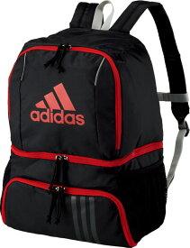 【18日限定P最大10倍】adidas(アディダス)サッカーボール用デイパック ブラック×レッドADP27BKR