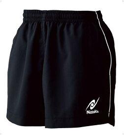 【ラッキーシール対象】ニッタク(Nittaku)卓球ゲームシャツ・パンツウインクルショーツNW2495ブラック