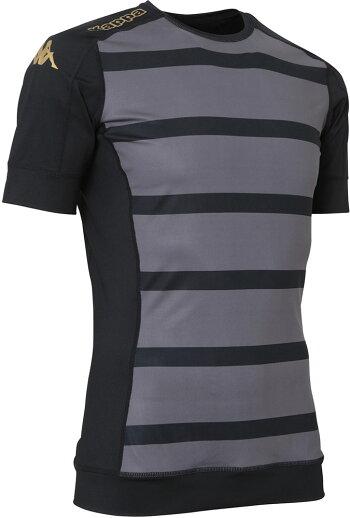 Kappa(カッパ)サッカーゲームシャツ・パンツ半袖プラクティスシャツKF912TS04BK