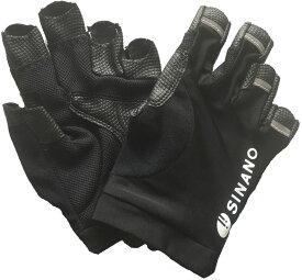 【ラッキーシール対象】SINANO(シナノ)ウエルネス手袋レビータ グローブ M ブラック125543