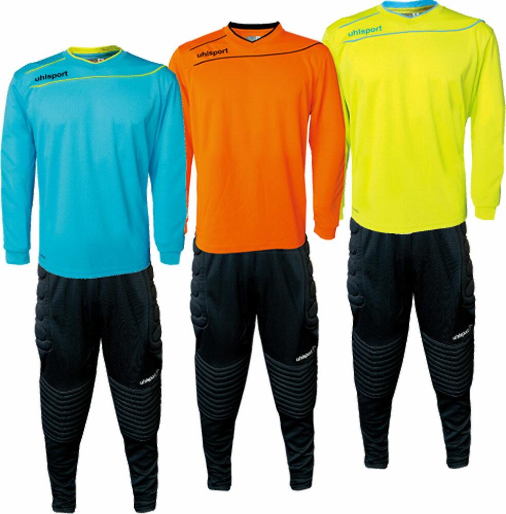 【ラッキーシール対象】 uhlsport(ウールシュポルト)サッカーゲームシャツ・パンツストリーム3.0GK ジュニアセット1005703FYL/IBLU