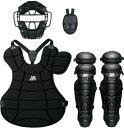 ZETT(ゼット)野球&ソフトマスク・プロテクター大人・中学軟式野球用 防具4点セット(SG基準対応)BL302SETブラック