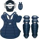 ZETT(ゼット)野球&ソフトマスク・プロテクター大人・中学軟式野球用 防具4点セット(SG基準対応)BL302SETネイビー