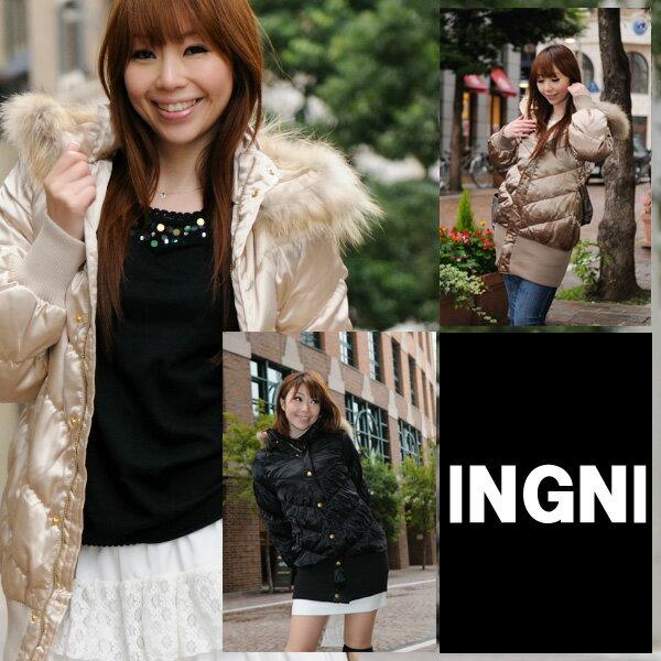 INGNI(イング)【M】レディースハーフダウンコート・ダウンジャケット(クリスマスプレゼントにもオススメ) 05P14feb11