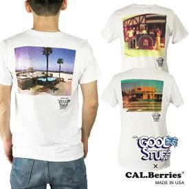 【50%OFF】【カルベリーズ 直営店】CAL.Berries メンズ tシャツ ロゴ 半袖 白 ホワイト アメリカ製 GOOD STUFF グッドスタッフ 35TJ001GS6 【メール便対応】