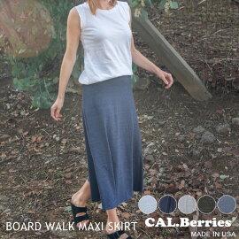 あす楽【カルベリーズ】CAL.BerriesカルベリーズBOARDWALKMAXISKIRT(35tj008)レディースALLMadeinUSAロングスカートマキシスカート夏海柔らかい新作