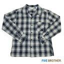 SALE(返品交換不可) 【FIVE BROTHER (ファイブブラザー)】ライトネル L/S ワンナップシャツ (151831)