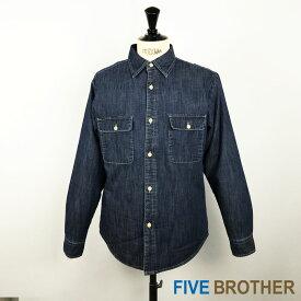 FIVE BROTHER ファイブブラザー デニムキルティングシャツ・151865 MEN'S 長袖 ワーク