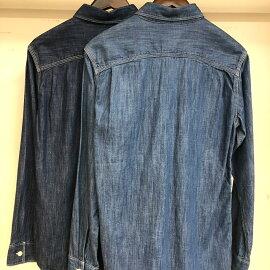 ワークシャツ【FIVEBROTHER(ファイブブラザー)】AuthenticデニムワークシャツMEN`Sシャツ6オンスライトデニムシャツ