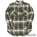 ワークシャツ ネルシャツ チェックシャツ ヘビーネルワークシャツ ワークシャツ カジュアルシャツ トップス 長袖 メンズファッション FIVE BROTHER (ファイブブラザー)(1516081)